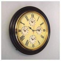 World Time Wooden Clock