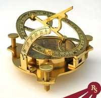 Solid Brass Sundial Compass