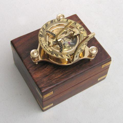 solid brass sundial compass-5''