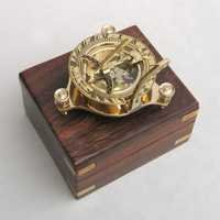 solid brass sundial compass-5''