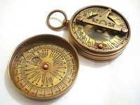 Brass Sundial Compass - Pocket Sundial Compass