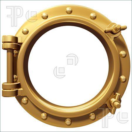 Illustration of Isolated Porthole