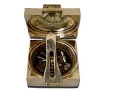 Square Brunton Compass