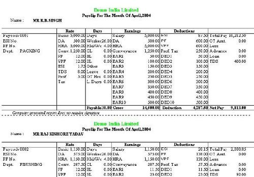 Time watch Pay roll reports
