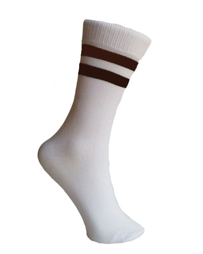 WHITE SOCKS WITH STRIPES