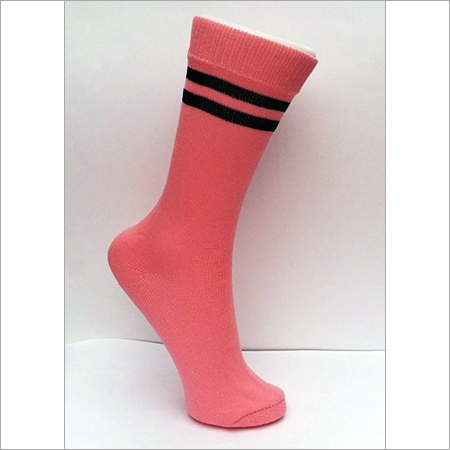 Two Border/ Stripe School Socks
