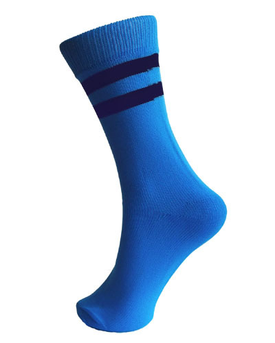 Colour Border School Socks