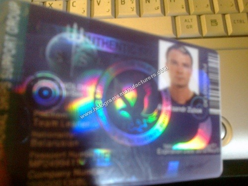 ID Card Transparent Hologram Overlay