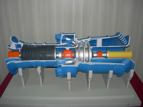 Cut View of Turbine Model