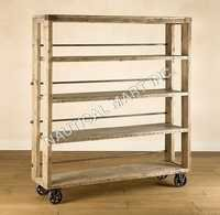 Wood Platform Shelving With Steel Framed