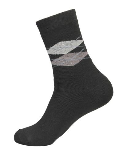 Extra Strechable Argyle Design Velvet Terry Socks