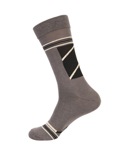 Extra Stretchable Geometrical Design Trendy Calf Socks