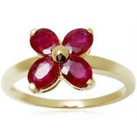 Less Expensive Oval Ruby Yellow Gold Ring