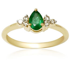 Womens emerald gold ring gold emerald rins