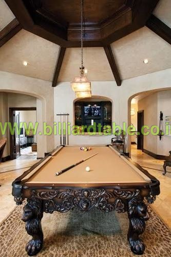 Pool Table in Lion design