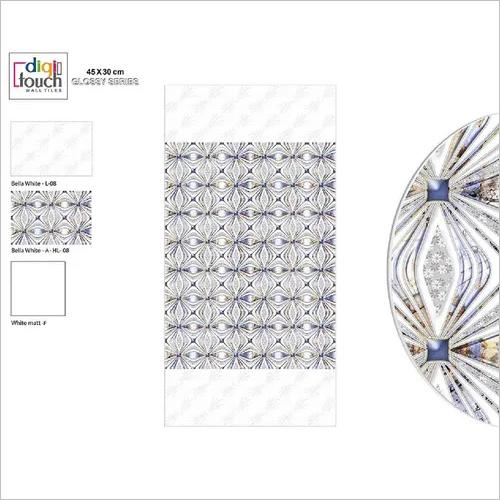White Print Luster Wall Tiles