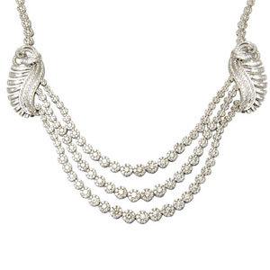Three Line Diamond Tennis Necklace Set