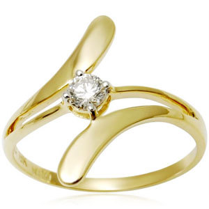 Simple Girlish Solitaire Ring
