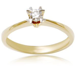 Round Diamond Gold Ring