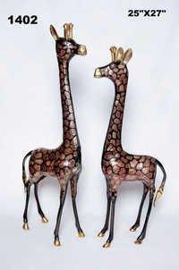 Brass Giraffe Set