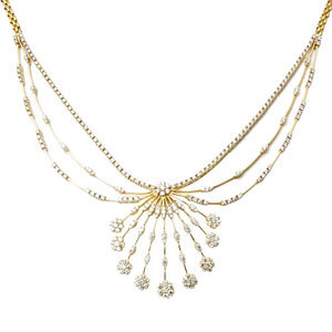 Heavy Diamond and Gold Necklaces