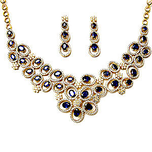Heavy sapphire gold Necklaces