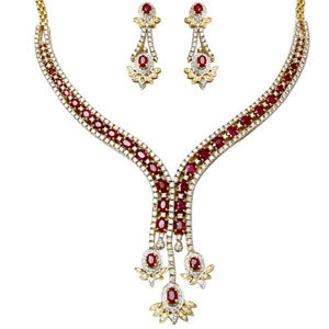 Diamond Ruby Necklace Desginers