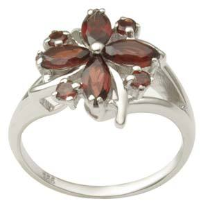 Flower shaped Silver Rings