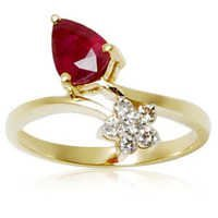 Diamond and Ruby gold ring for girls