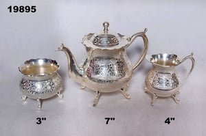 Tea set with silver plated