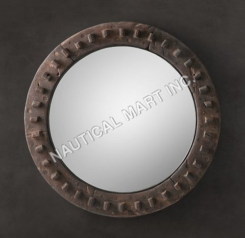 18TH C. EUROPEAN COG WHEEL MIRROR