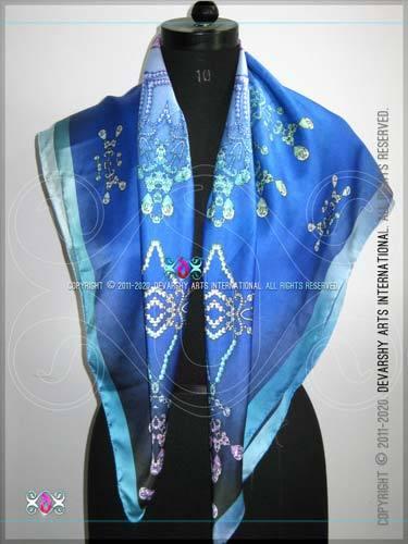 Digital print Satin Long Scarves