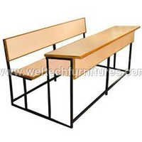 School desk and bench