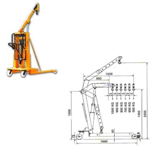 Hydraulic Floor Jib Cranes