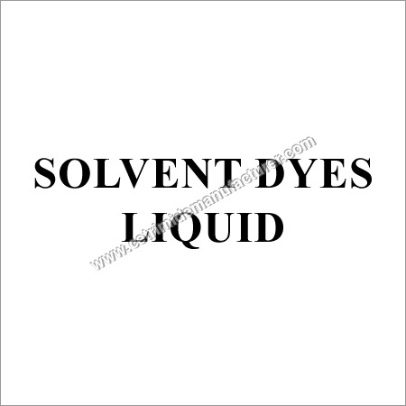 Solvent Liquid Dyes