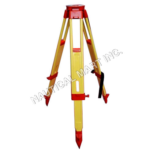 WOODEN YELLOW TRIPOD STAND HEAVY