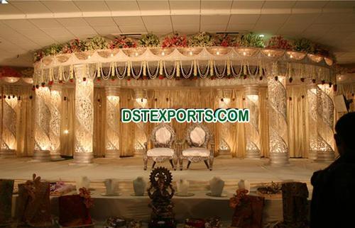 Crystal Lighted Wedding Stage