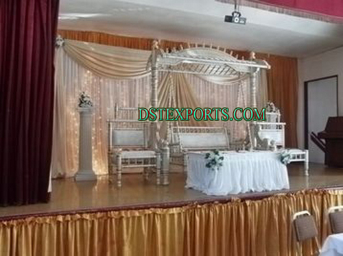 WEDDING STAGE WITH RAJWADI SWING SET