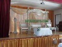 WEDDING STAGE WITH RAJWADI SWING SET