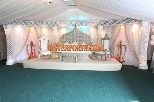 MUSLIM WEDDING CARVED FURNITURE STAGE