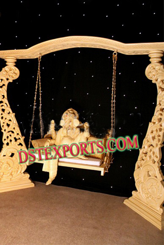 WEDDING GOLDEN CARVED JHULA