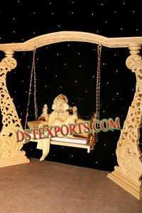WEDDING GOLDEN CARVED JHULA