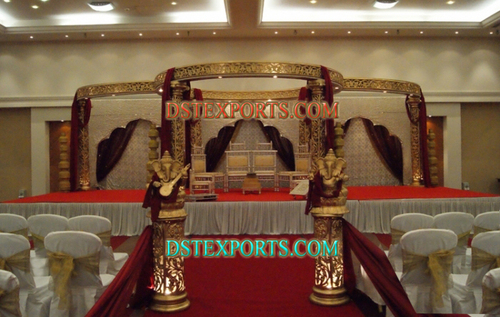 Indian Weding Gold Mandapam