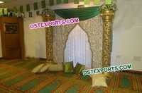 Mehandi Stage Embrodried Backdrop
