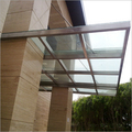 Industrial SS Glass Canopy