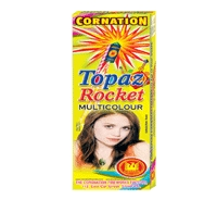 Topaz Rocket Emits Multicolor
