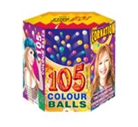105 Colour Balls (Colour Balls with Crackers)