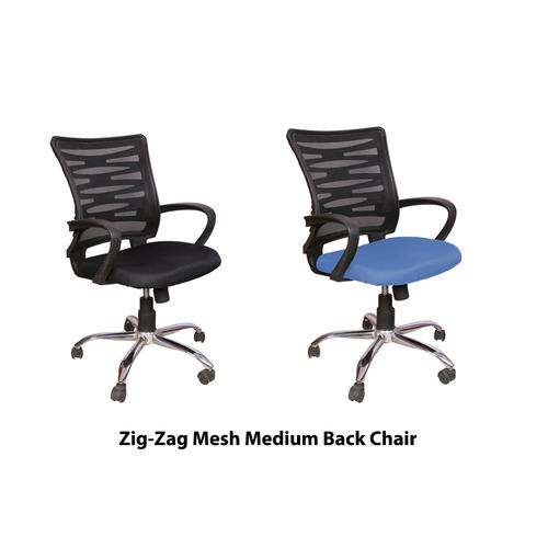 Zig-Zag Medium Back Revolving Office Chair