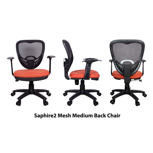 Saphire2 Rust Medium Back Revolving Office Chair