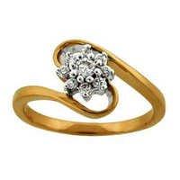 Ag Real Diamond BLOSSOM FLOWER DIAMOND RING AGSR0175